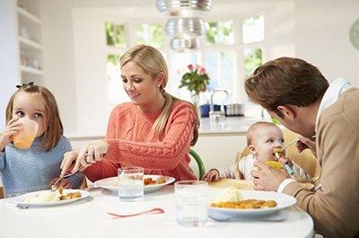 Condivisione dei pasti in famiglia e salute di bambini