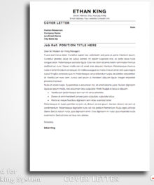 Resume Template Ethan King Cover Letter Resume For Word and Pages (Mac) - Simple Resume Template Instant Download, Easy Edit, Professional Resume Template | Check more resume templates, how to answer interview questions and many career tips at www.bestresumes.info