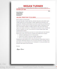 Resume Template Megan Turner Cover Letter Professional Resume Template For Word and Pages (Mac) - Simple Resume Template Instant Download, Easy Edit, Professional Resume Template | Check more resume templates, how to answer interview questions and many career tips at www.BestResumes.info