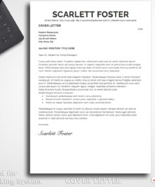 Resume Template Scarlett Foster Cover Letter - Simple Resume Template Instant Download, Easy Edit, Professional Resume Template | Check more resume templates and career tips at www.bestresumes.info