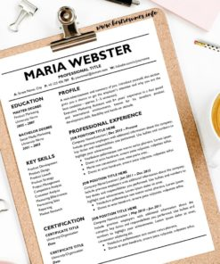 Professional Resume Template Maria Webster Two Column Resume Template Google Docs - Two Page Job Resume Template Google Docs Instant Download, Easy Edit, Curriculum Vitae Template Google Docs | Check more Resume Templates for Google Docs, Resume Template in Google Docs, and Best Resume Template Google Docs Examples at www.bestresumes.info #resumetemplate #resume #resumedesign