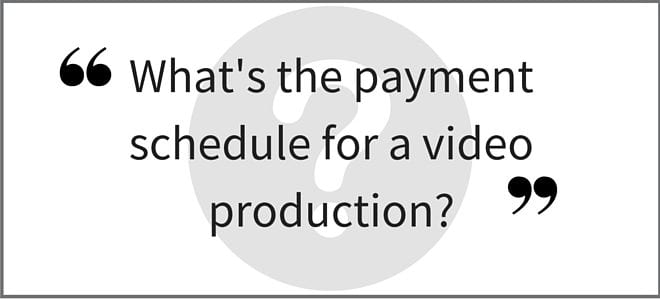 """What's the payment schedule for a video production?"" Video Answers. Episode 29."