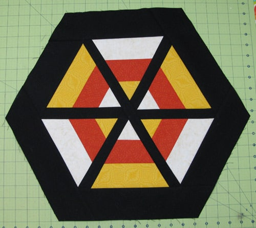 Halloween Candy Corn table topper tutorial