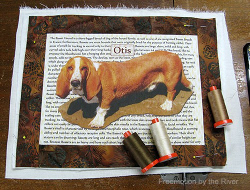 TAP Transfer Artist Paper used for dog photo
