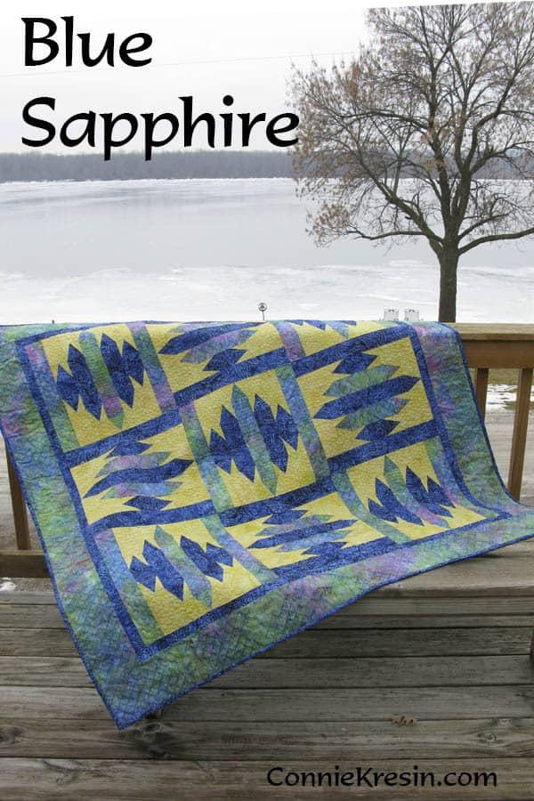 Blue Sapphire Quilt Pattern - ConnieKresin.com