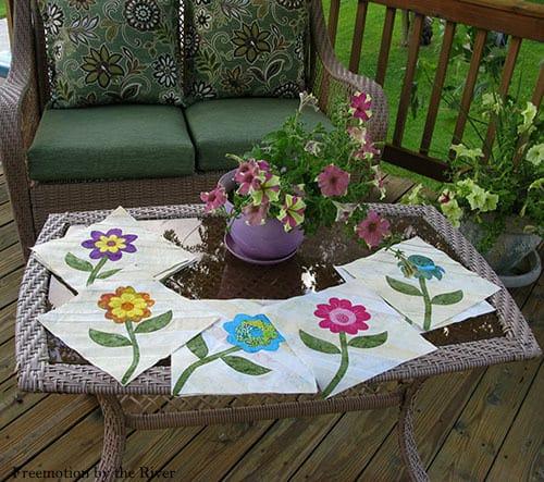 Summer Flowers quilt pattern - ConnieKresin.com