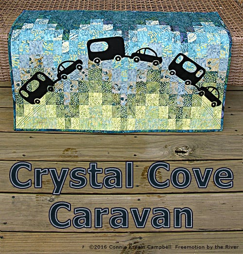 Caravan quilt made with Crystal Cove collection from Island Batik
