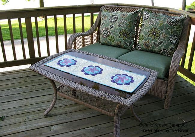 Summer Flower Table Runner Tutorial Deck Runner