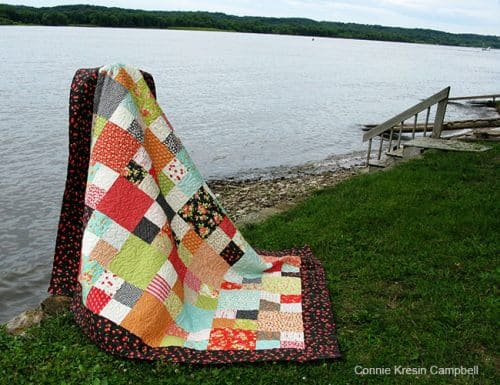 Checkmate Free Quilt Pattern by the river