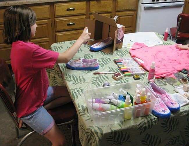 DIY Painted T-Shirts fast and easy to do