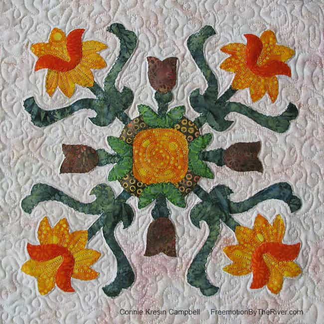 Folk Art Quilted Traditions Block 9