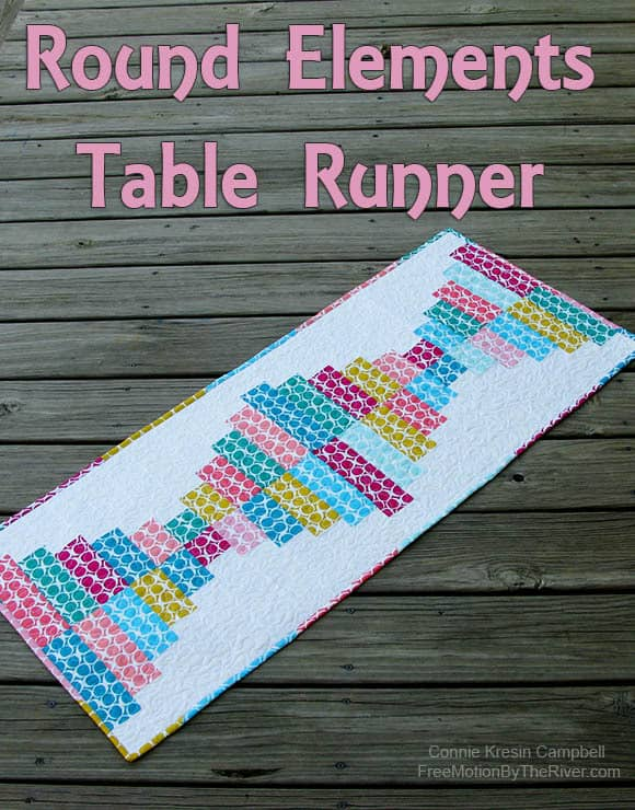 Round Elements Table Runner made with Piano Keys pattern