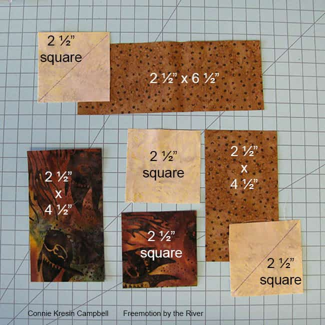 Block pieces to cut