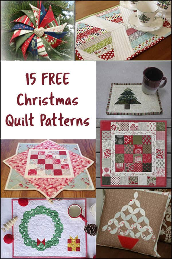 15 Christmas Quilt Patterns