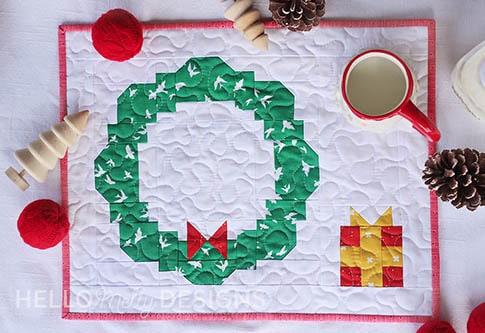 Christmas Santa Cookie Placemat Tutorial