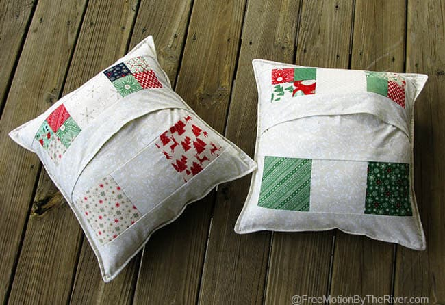 Back of the Christmas Scattered pillows