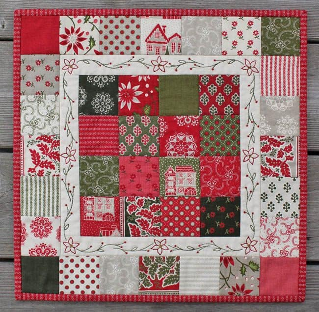 Christmas Candy mini quilt tutorial