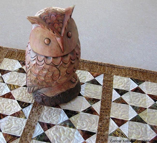 Owl Table Runner tutorial