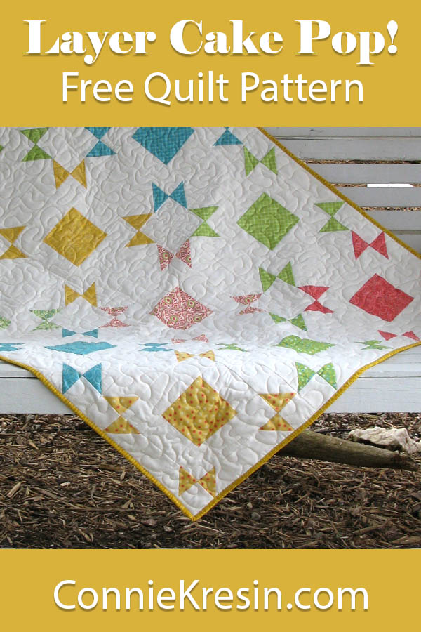 Layer Cake Pop! Free fast and easy quilt pattern that is perfect for a baby quilt