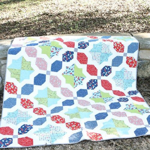 Morning Glory baby Quilt by Pat Sloan