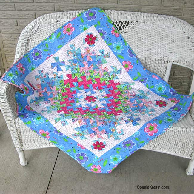 Twister Baby Quilt Tutorial bench