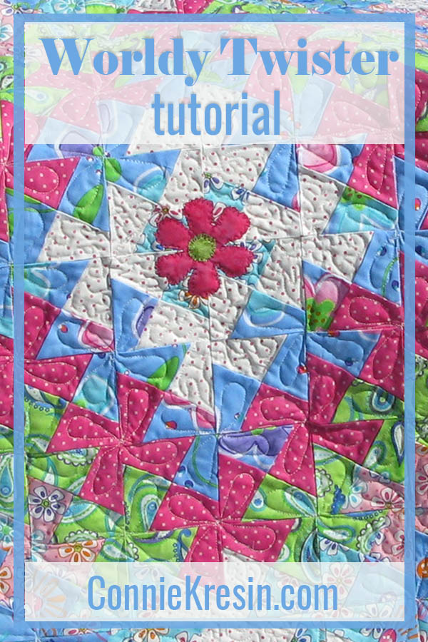 Worldly Lil Twister baby quilt tutorial is fast and easy to make