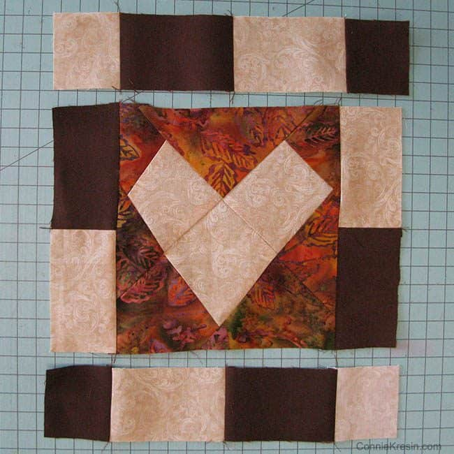 """AccuQuilt GO! Wonky Heart 6"""" Die Table Topper"""