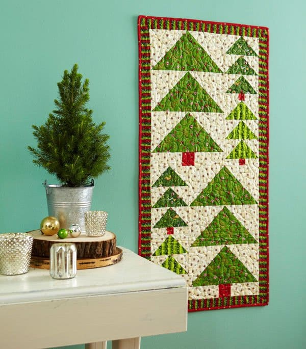25 free Christmas Quilt Patterns and tutorials Winter Trees