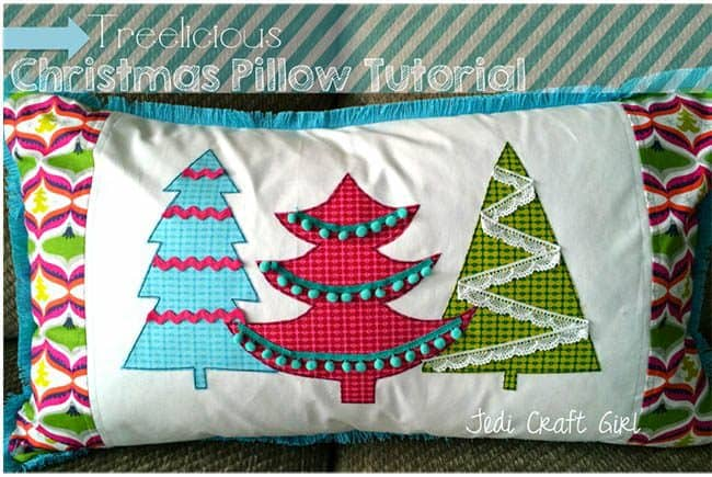 25 free Christmas Quilt Patterns and tutorials Christmas Tree Pillow