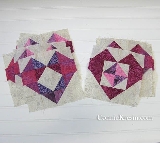 Batik heart blocks