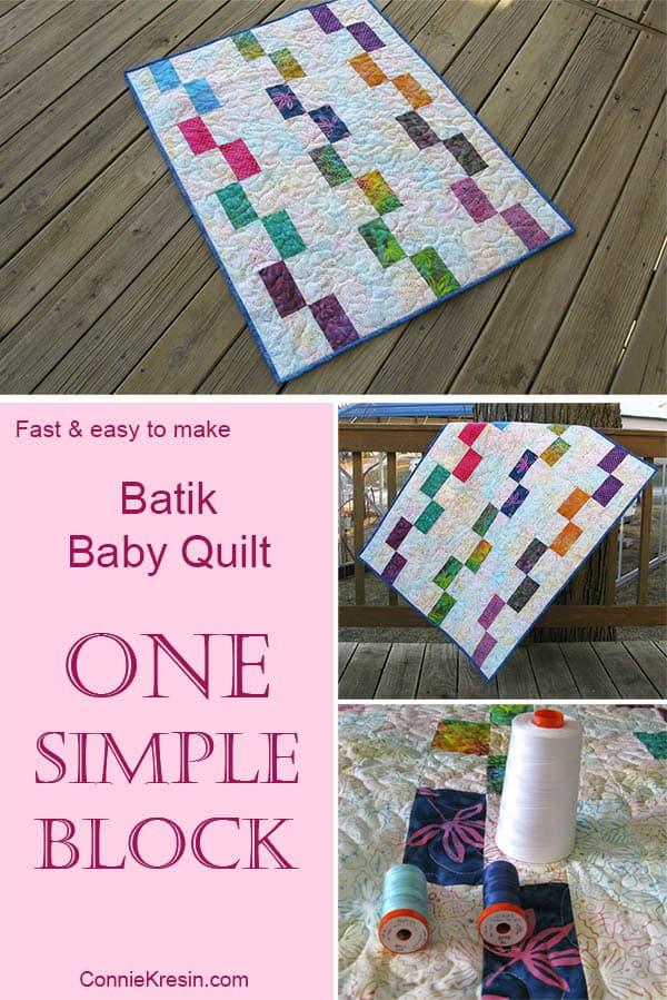 One Simple Block makes a beautiful batik quilt