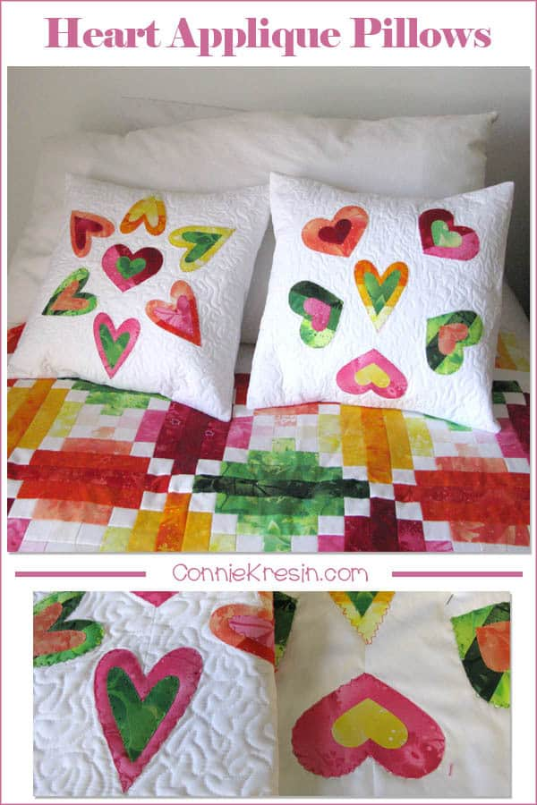 Quilted Heart Applique Pillow tutorial