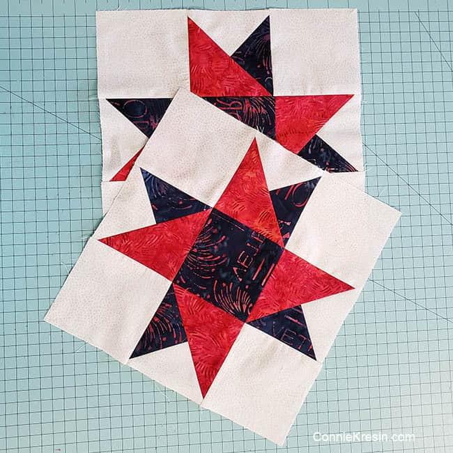 Spinning Star quilt block 2 of them