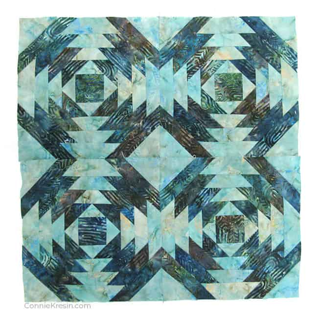 AccuQuilt GO! Pineapple quilt blocks for a wallhanging
