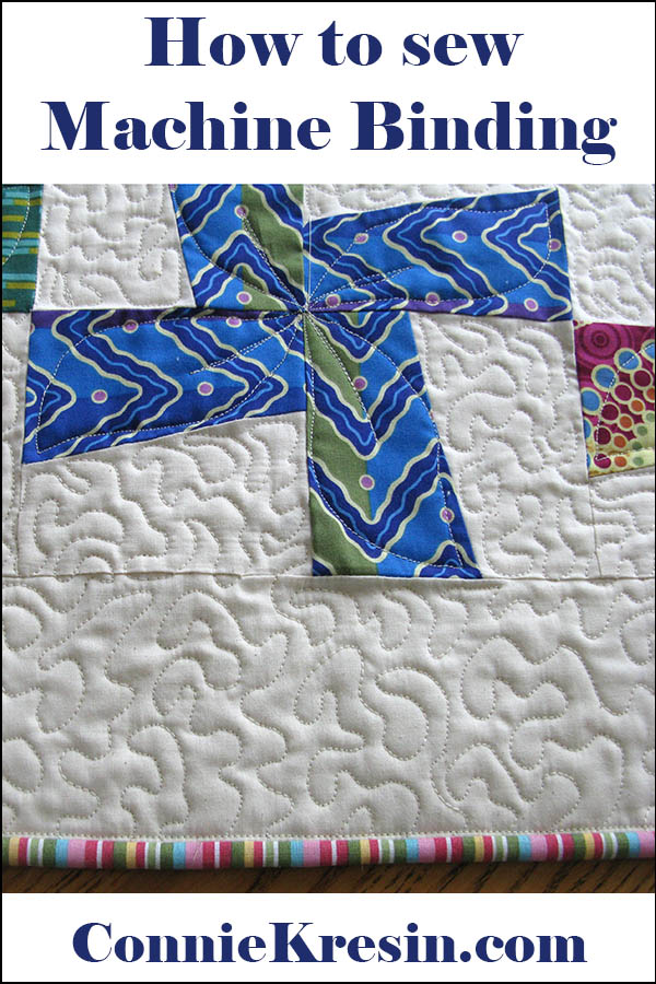 How to add binding to a quilt by machine