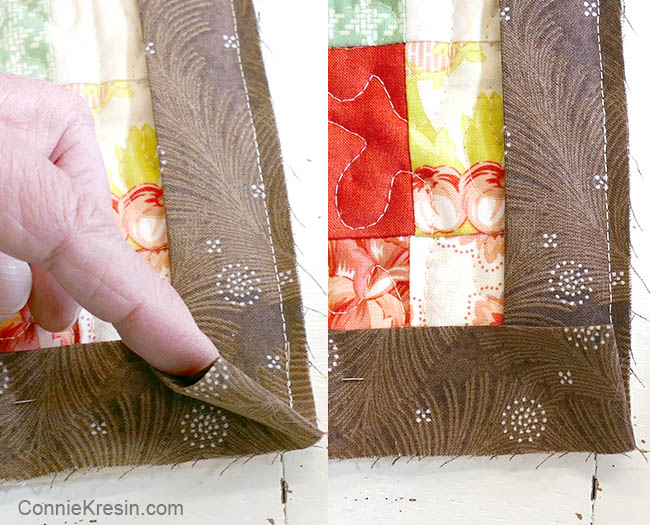 How to add binding to a quilt sew the corners