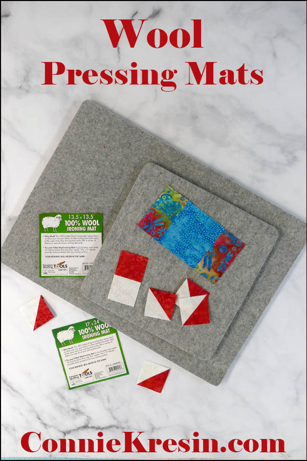 Wool Ironing Mats in two sizes for quilting with batik blocks