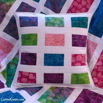 Sparkles quilt pillow