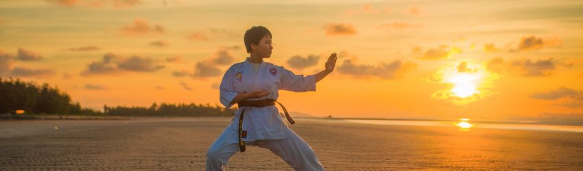 Learning discipline through martial arts training