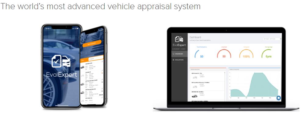 Evalexpert, SaaS, vehicle Saas, Automotive SaaS, Car appraisal system, car evaluation, car valuation system