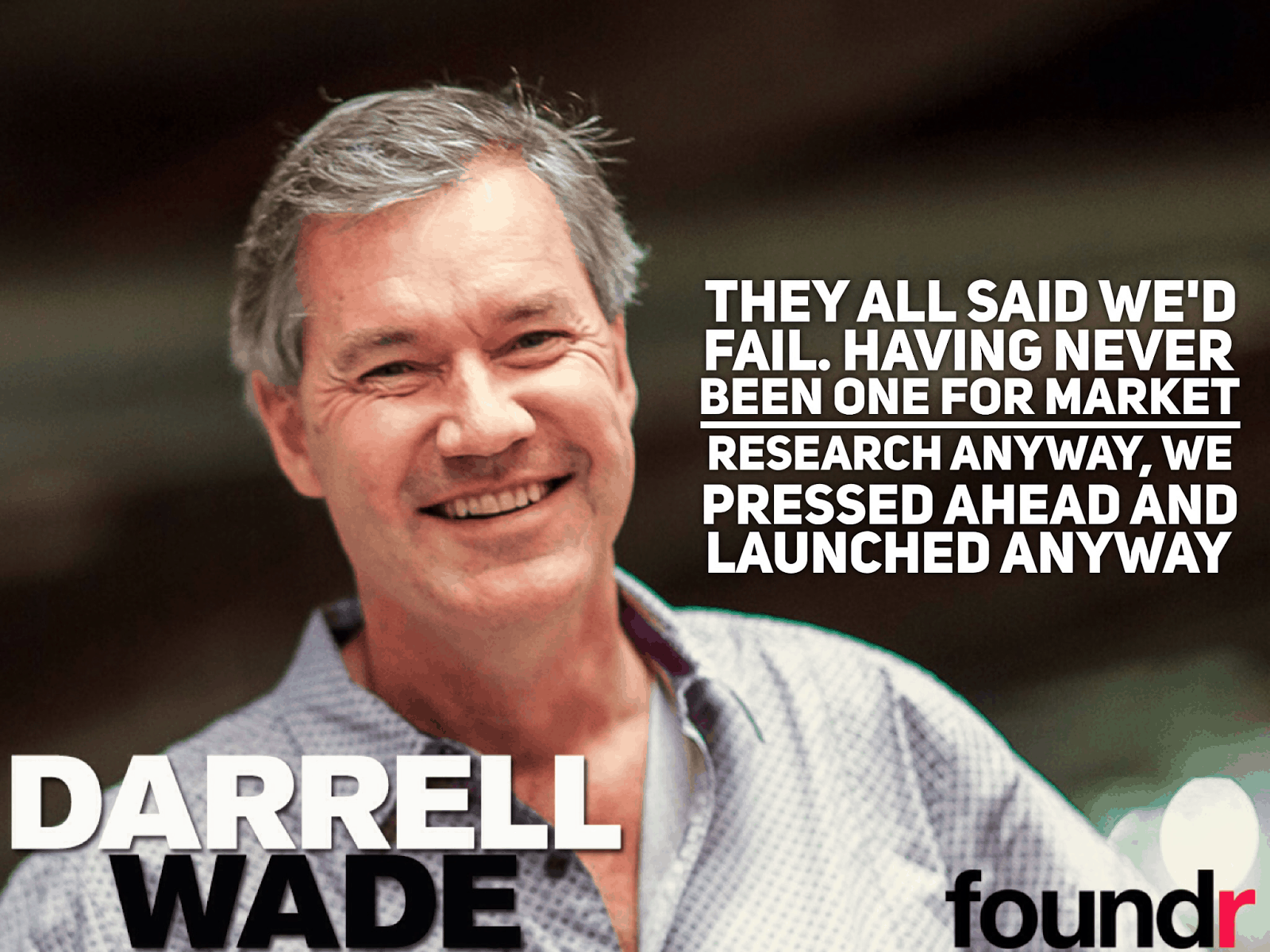 how to start a startup darell wade