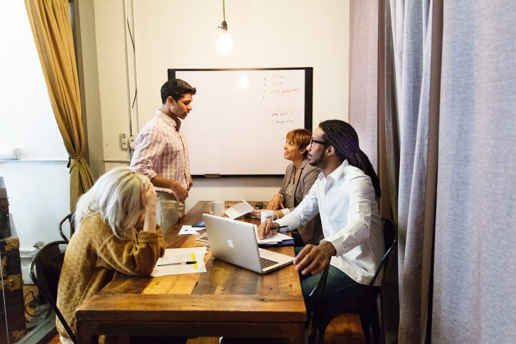 Group of people in a Coworking space