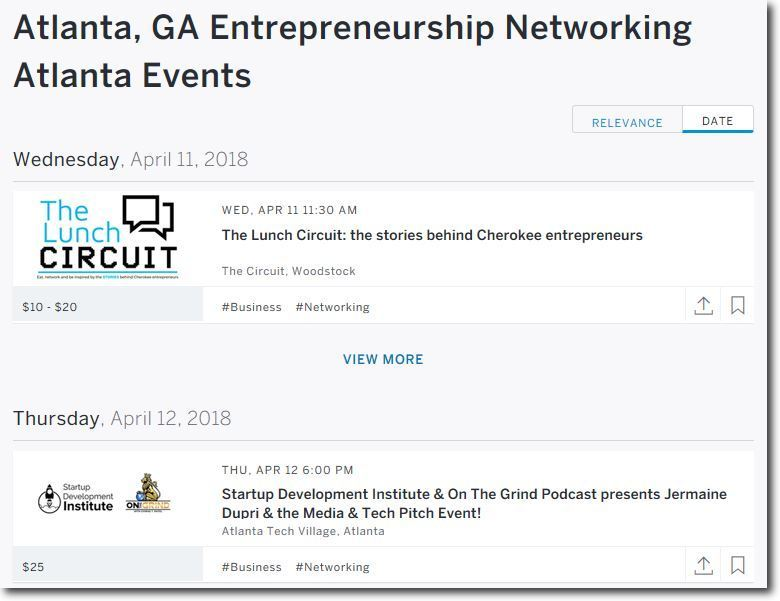 Fear of failure in business atlanta networking events