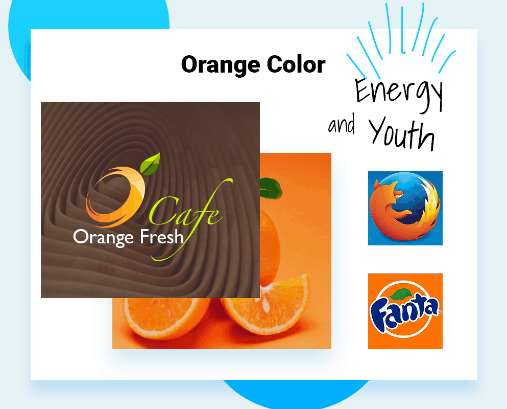 Best colors for company logo orange color example