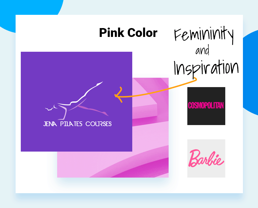 logo color schemes pink color example