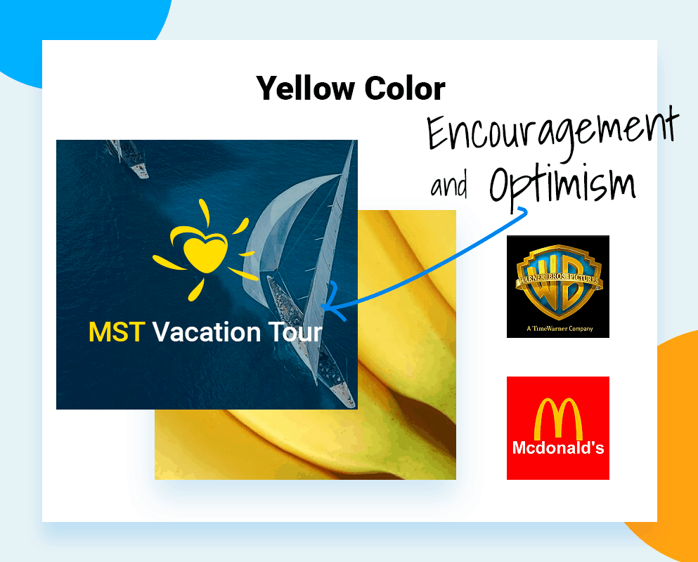 Best colors for company logo yellow color