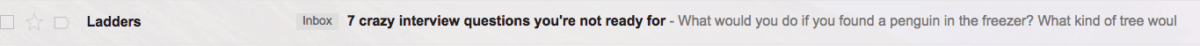ladders subject line email copywriting