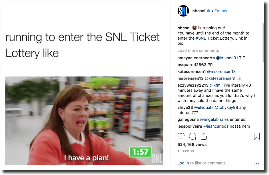 NBC's Saturday Night Livebrings their hilarious content to Instagram and videos and it doesn't fail to delight