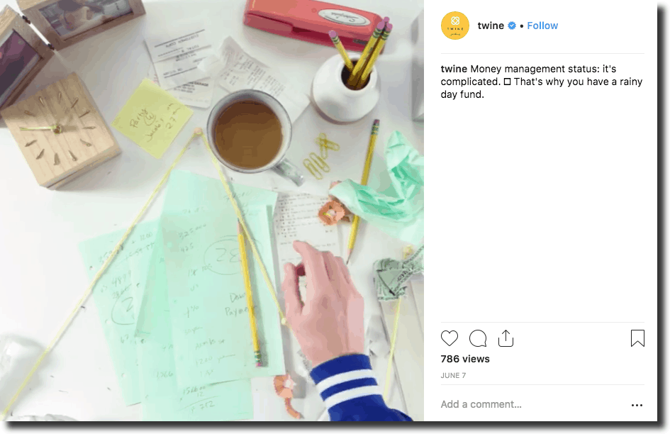 Twine,leverage best videos for Instagram on their profile while remaining true to their personality