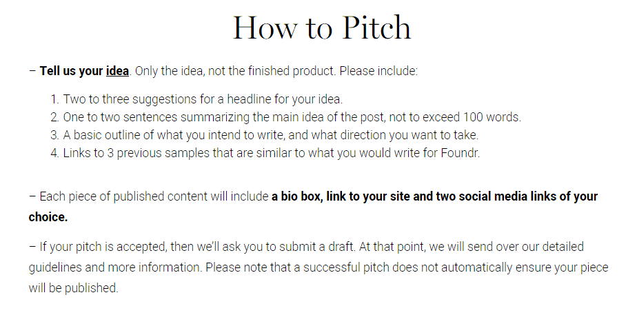 foundr How to pitch a blog